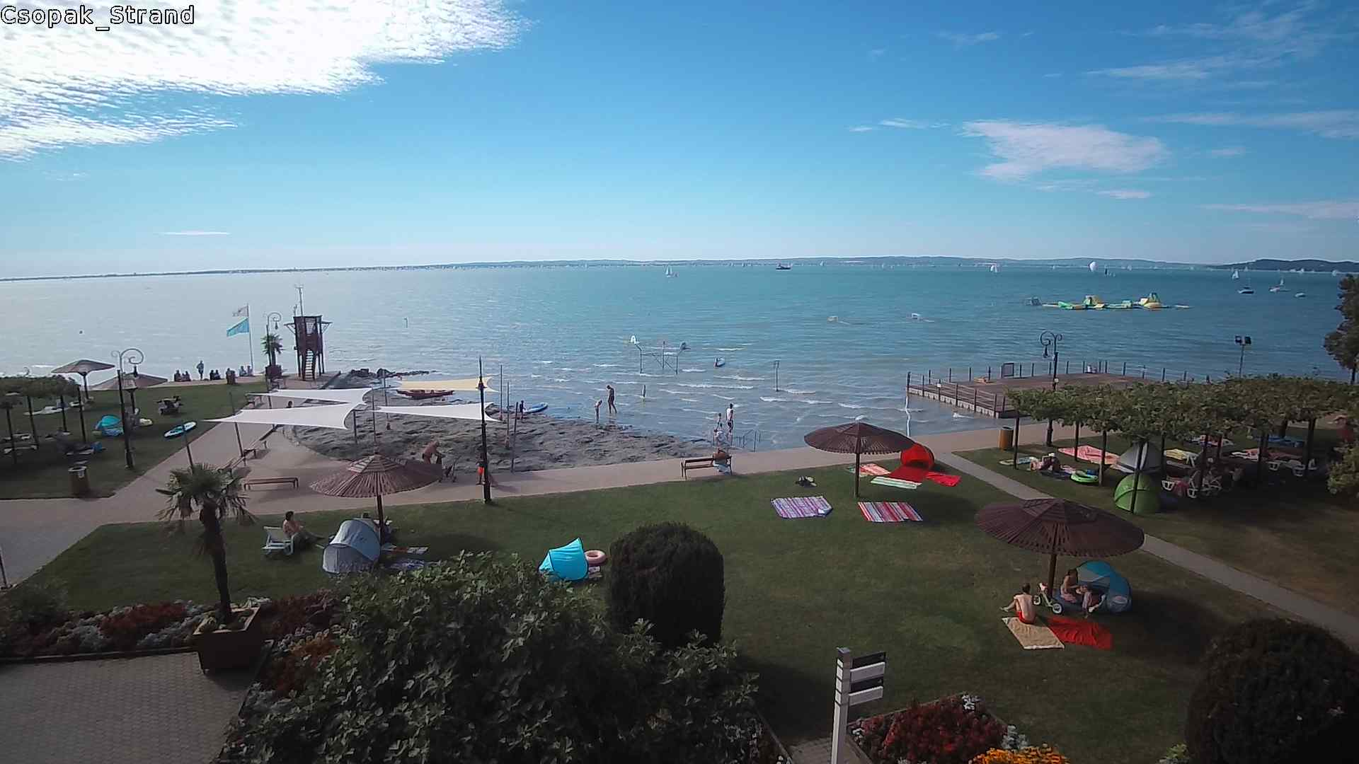 Balatoni webkamerák - Csopaki strand